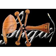 Set accesorii vioara din  paltin cret (profesional) 4/4-1/32
