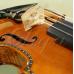 "Viola 16"" (40,5 cm) Gliga Special (maestru), spate intreg, intarsie os si abanos - Copie ""Hellier"" 1679"