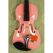 "Vioara 1/2 Gems 2  (student), colorata si pictata ""Trandafiri"""