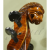"""Vioara 4/4 Gliga Special (maestru), antic, spate intreg, fileu dublu, sculptata """"Cap de Leu"""""""
