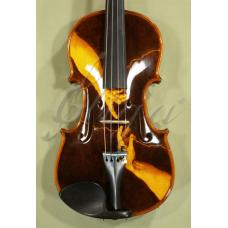 "Vioara 4/4 Gliga Special (maestru), spate intreg, pirogravata ""Crearea lui Adam"""