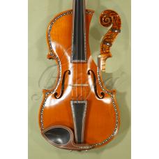 "Vioara 4/4 Gliga Special  (maestru), spate intreg, intarsie os si abanos - Copie ""Cipriani Potter"" 1683"